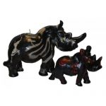 Rhino Candles - 8cm-tall-weeny-rhino-safari-colours