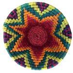 Medium Woven Basket - rainbow